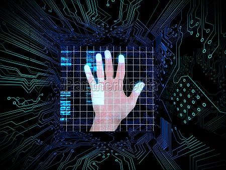 blu grafico elettronica nero illustrazione futuristico