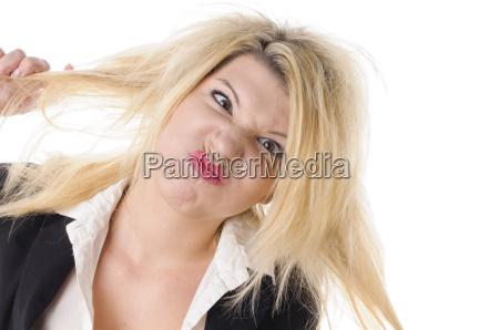 donna risata sorrisi camicetta opzionale occhi