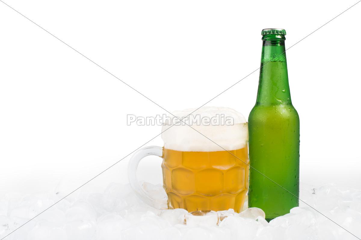bottiglia, di, birra, e, birra, tazza - 9530120