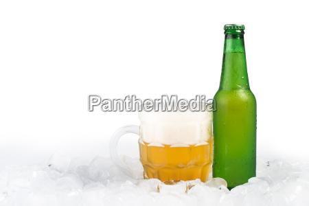 bottiglia, di, birra, e, birra, tazza - 9530124