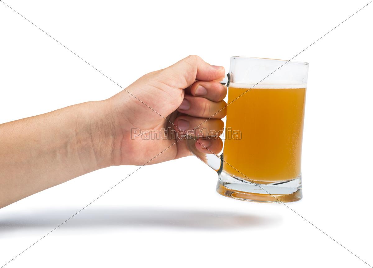 mano, in, mano, bottiglia, di, birra - 9530182