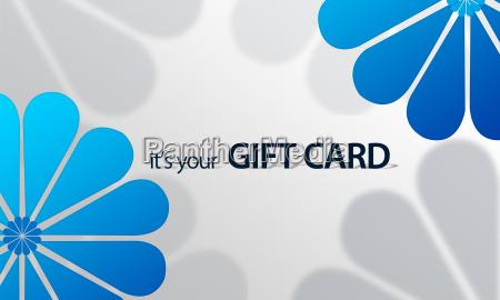 giftcard con fiori blu