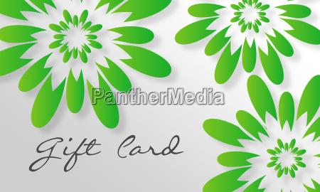 cartolina regalo di fiori verdi