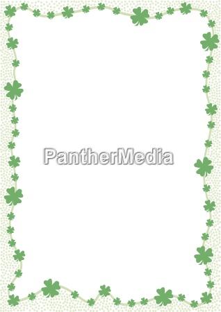 bordo di trifogli verdi grafica