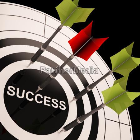con successo di successo obiettivo scopo