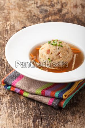 zuppa di gnocco di pancetta