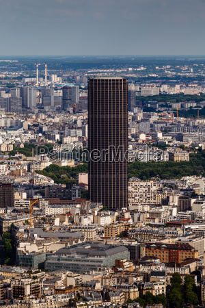 aerial view on paris and montparnasse