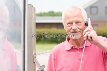 senior at telephone cell