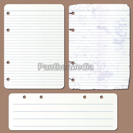 pagine vettoriali dal blocco note