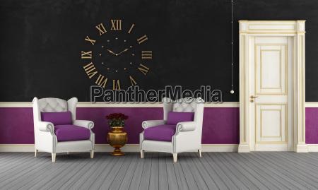 stanza nera e viola depoca