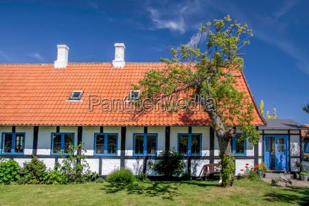 idyllic half timbered house on bornholm