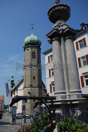 bregenz capital vorarlberg seekapelle festival fountain