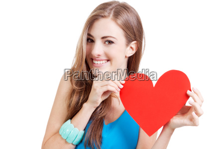 young laughing attractive woman with a
