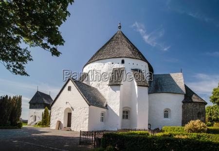 the church osterlars kirke on bornholm