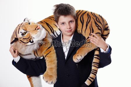 risata sorrisi gatto tigre giocattolo camicia
