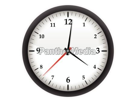 orologio data minuti timer vettore intervallo
