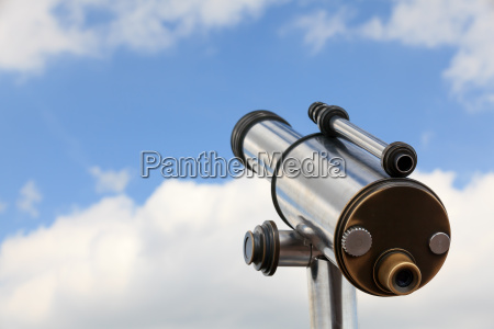 blu binocolo telescopio cielo firmamento guardare