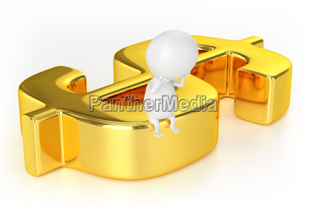 golden dollar sign and character