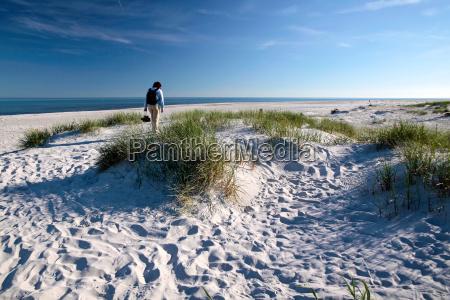 white sand beach on bornholm