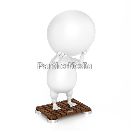 character and bathroom scale chocolate design