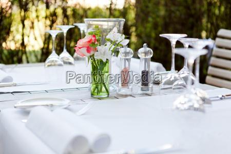 ristorante vetro bicchiere di vino tovagliolo
