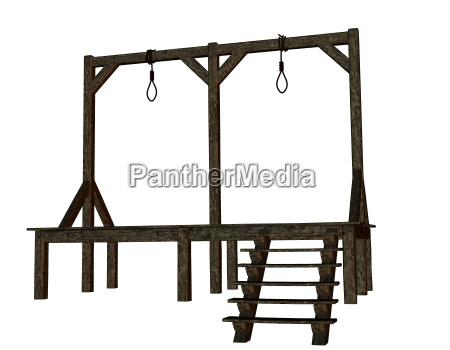 legno forca impalcatura esecuzione pena di