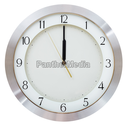 without five seconds twelve o clock