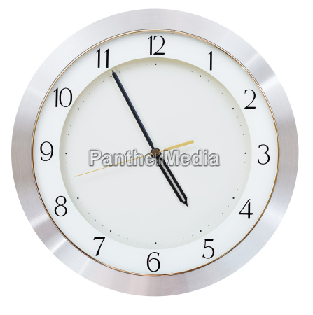 five minutes to five o clock