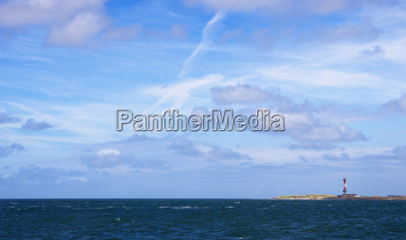 lighthouse of wangerode with sky and