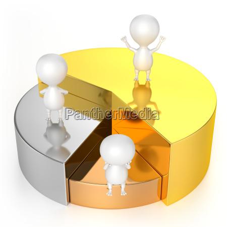 pie chart gold silver bronze and