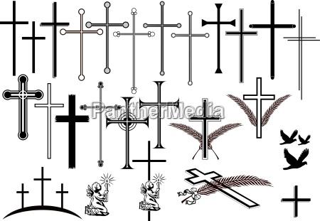 croci e altri simboli di lutto