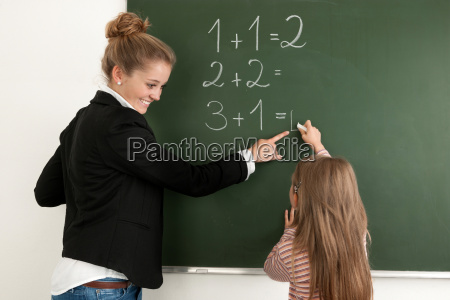 student learning numeracy in the classroom
