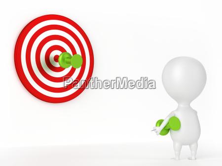thumbtack target and character