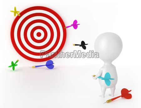 target darts and character loser