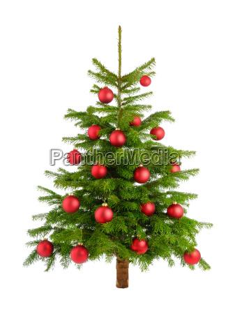 albero di clever natale con palline