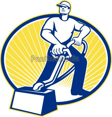 carpet, aspirapolvere, pulizia, della, macchina, retro - 10032078