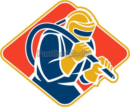 sandblaster, sandblasting, hose, retro - 10032160