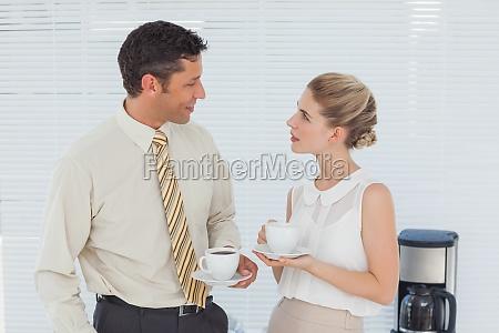 stylish, workmates, having, coffee, together - 10040496