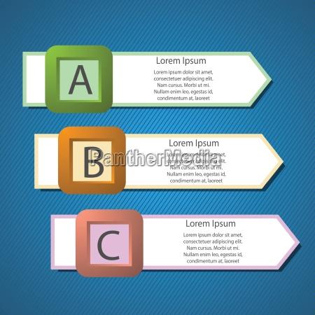 informazioni frecce grafica struttura