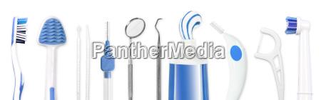 attrezzi per la cura dentale igiene