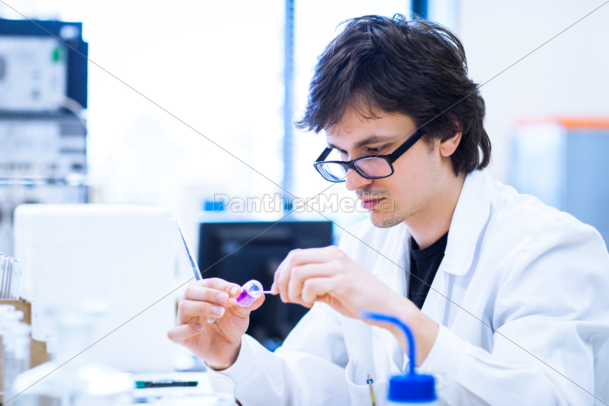 young, male, researcher, carrying, out, scientific - 10147331