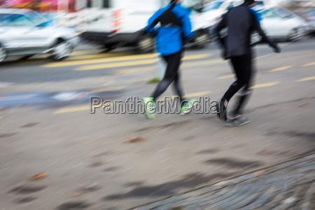 gambe persone popolare uomo umano citta