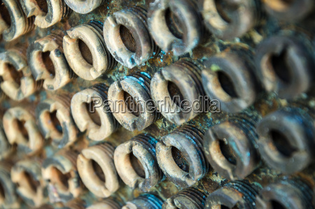 vite acciaio metallo arrugginito perni perno