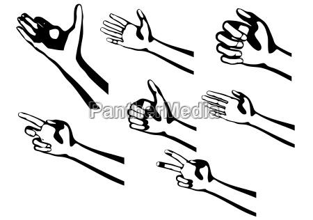 dito rilasciato uomo umano nero illustrazione