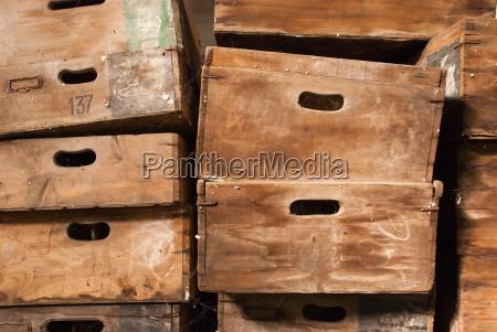 legno antico annata vendemmia scatola scatolame
