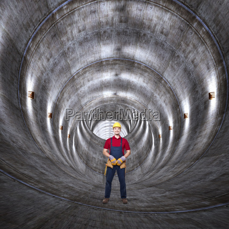 tunnel, di, cemento, e, l'uomo - 10299387