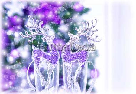 bicchiere animale decorazione festivo capodanno natale
