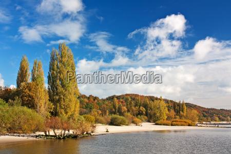 amburgo elba foglie di autunno cielo