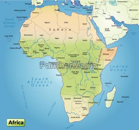 mappa dellafrica come mappa panoramica