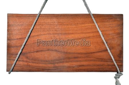 segnale legno antico marrone storto corda